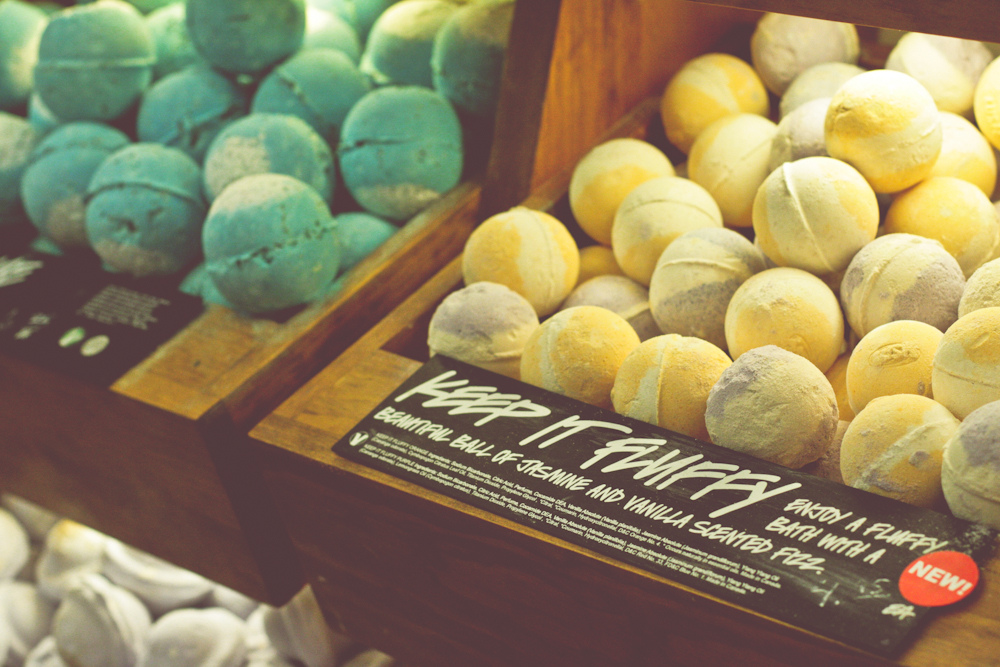 Lush bath bombs.