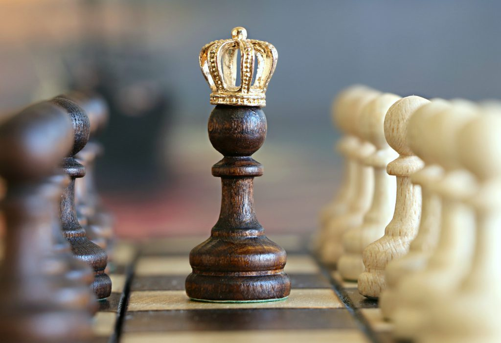 a chess piece with a crown