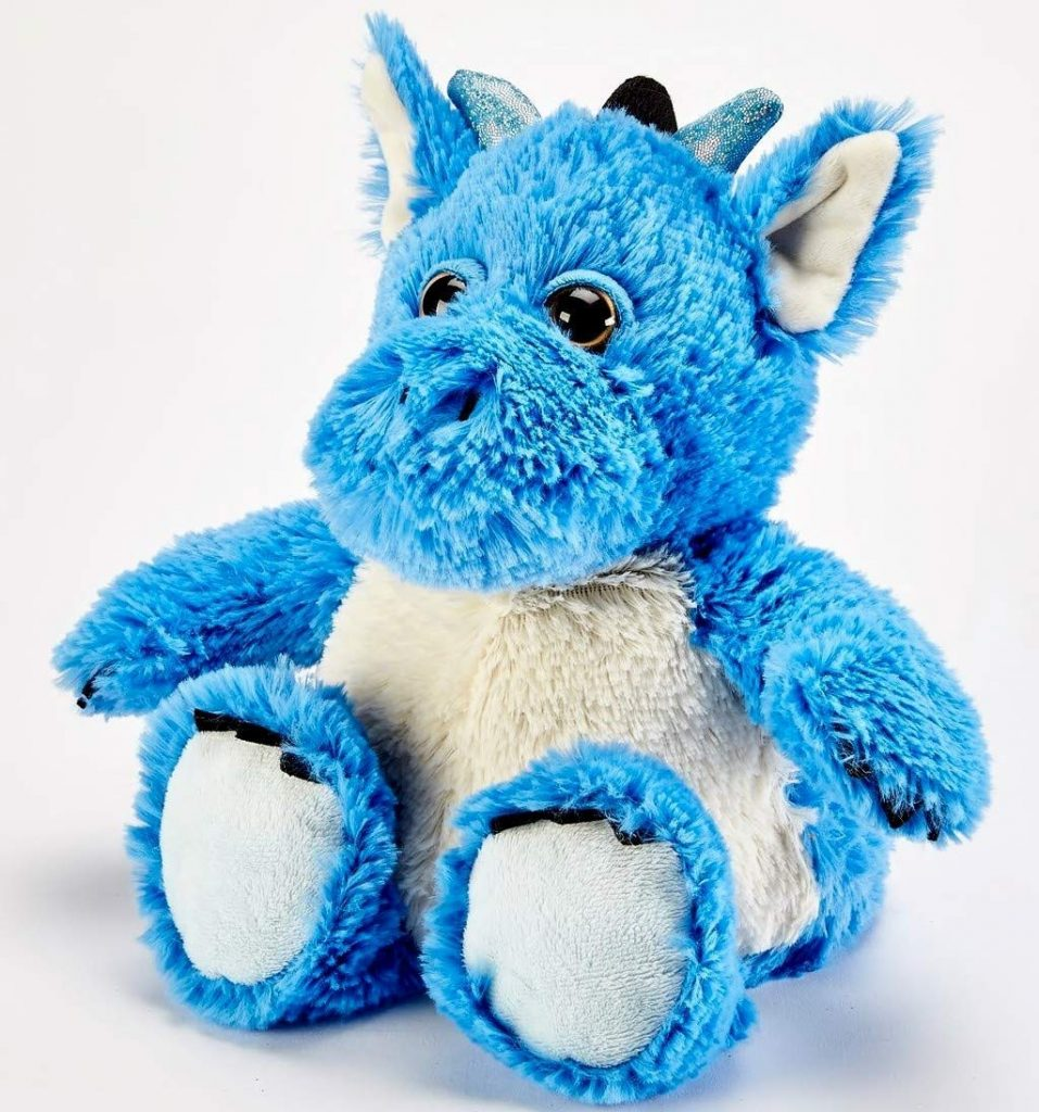 A blue dragon plushie toy
